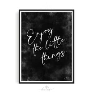 Poster Little Things Black