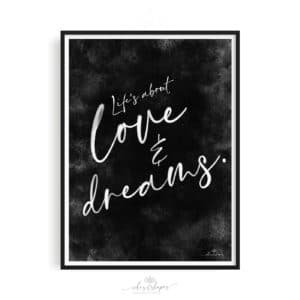 Poster Love And Dreams Black