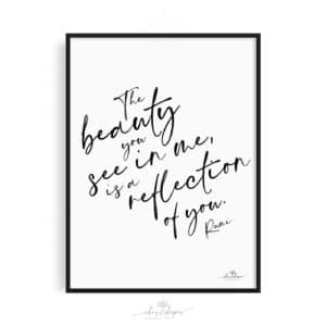 Poster Rumi Quote Reflection